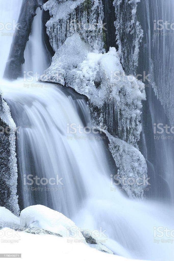 Wasserfall im Winter royalty-free stock photo