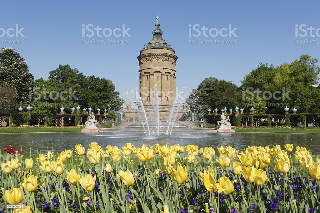 Wasserturm in Mannheim, Germany stock photo