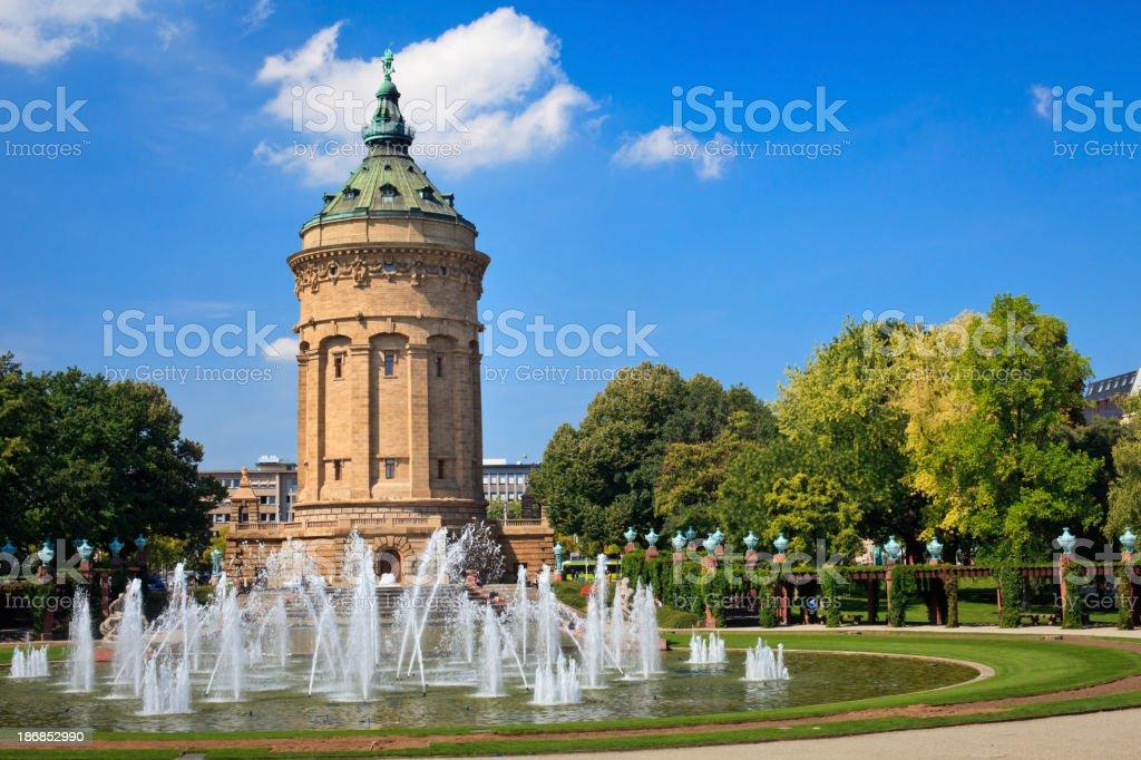 Wasserturm - Mannheim royalty-free stock photo