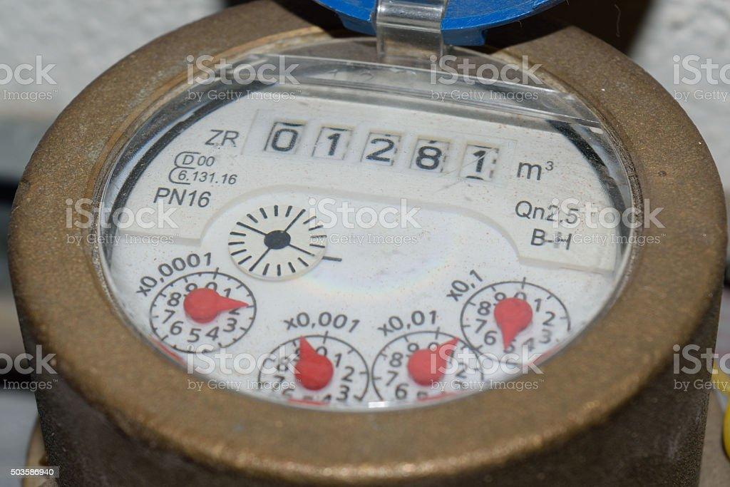 Wasserzähler stock photo