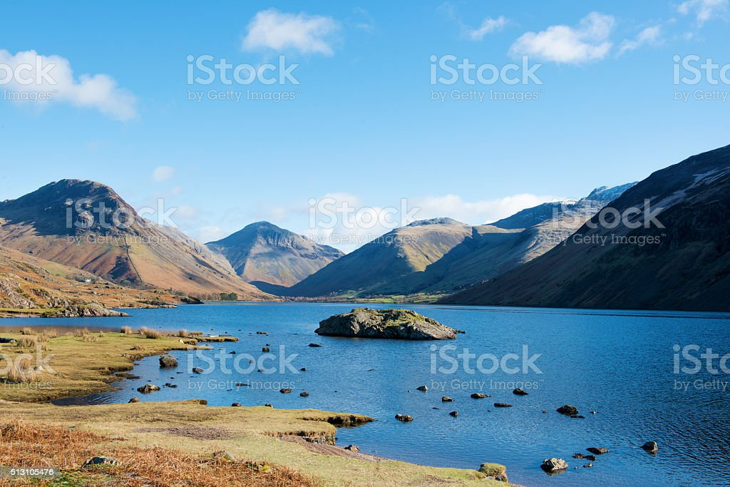 Wast Water and the Mountains at Wasdale Head stock photo