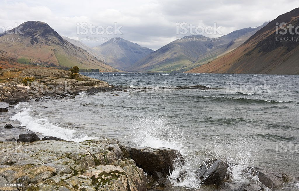 Wast Water Waves stock photo