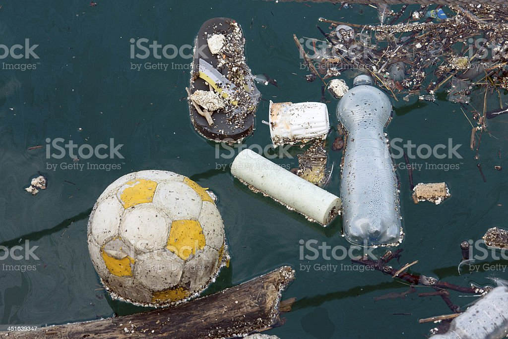 waste at sea royalty-free stock photo