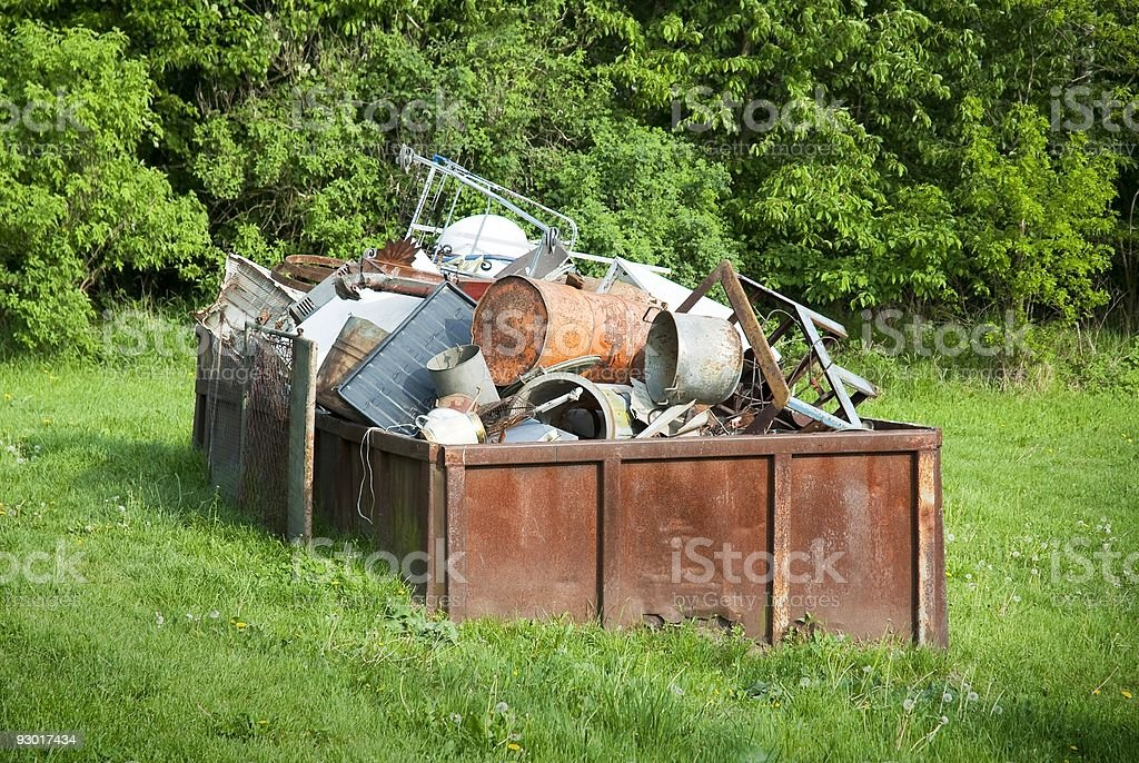 Waste container royalty-free stock photo
