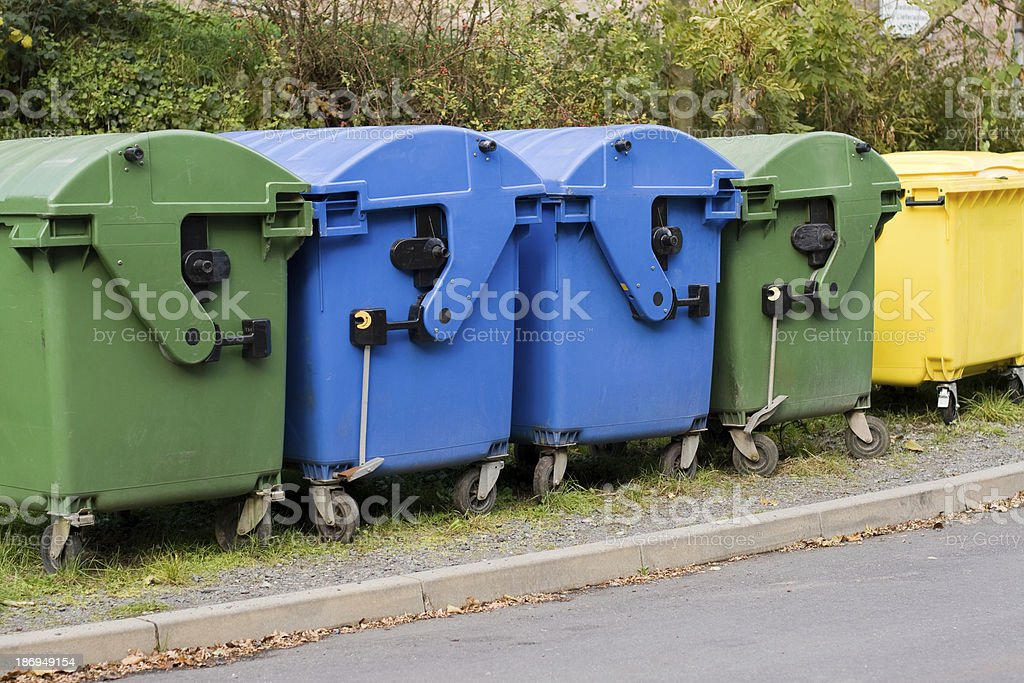Waste containers royalty-free stock photo
