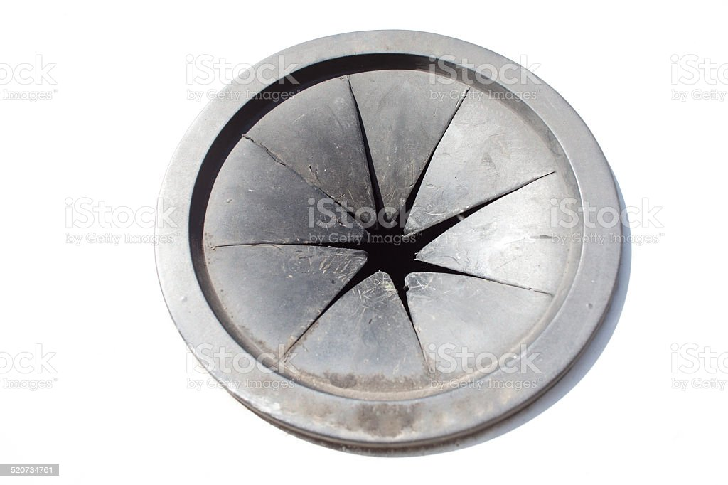 waste disposal rubber hole stock photo