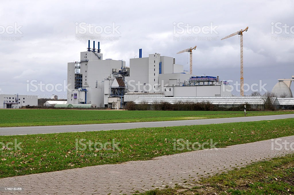Waste Incineration Plant royalty-free stock photo