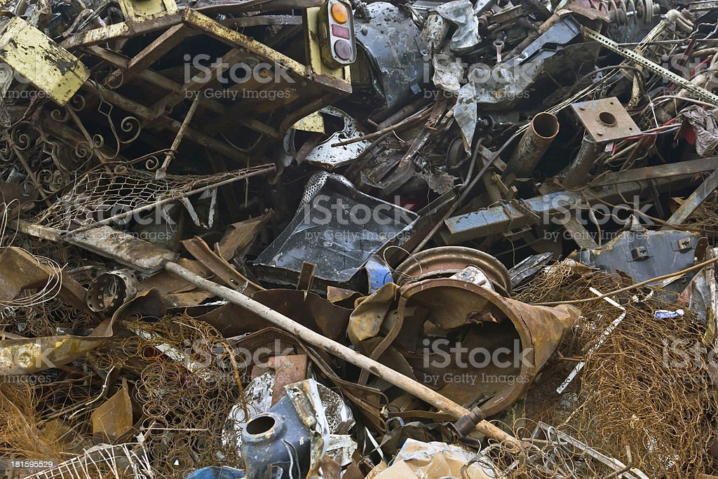 waste iron metal rusted royalty-free stock photo