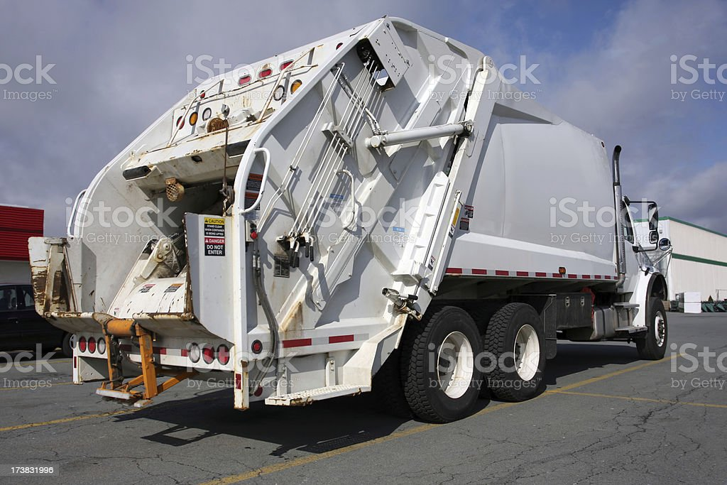 Waste Management Vehicle (aka, Garbage Truck) stock photo