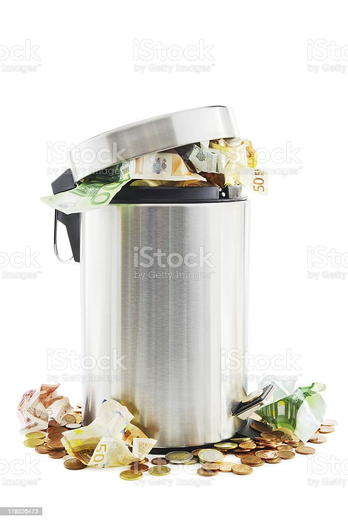 Waste money royalty-free stock photo