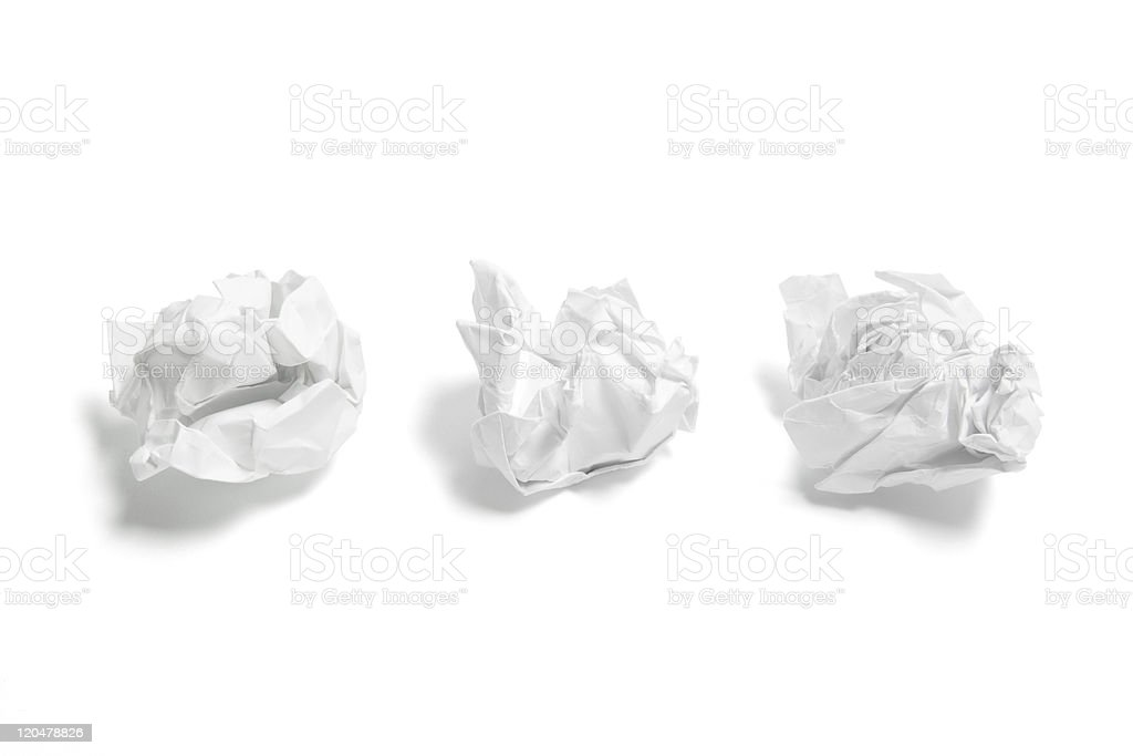 Waste Paper Balls stock photo