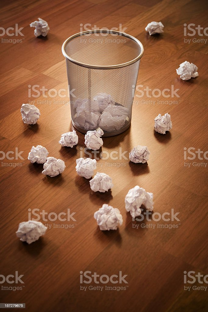 Waste Paper Basket royalty-free stock photo