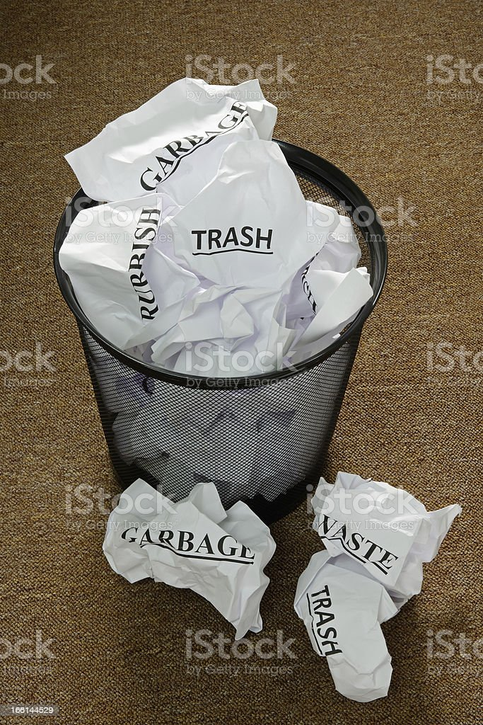 Waste Paper Bin royalty-free stock photo