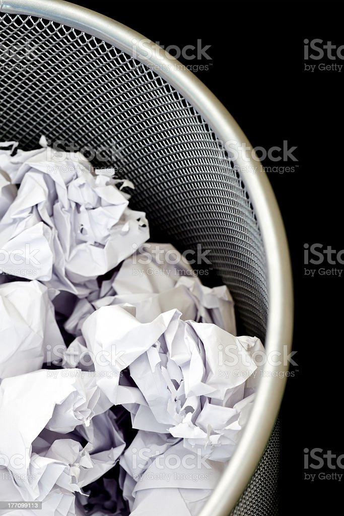 Waste paper bin royalty-free stock photo