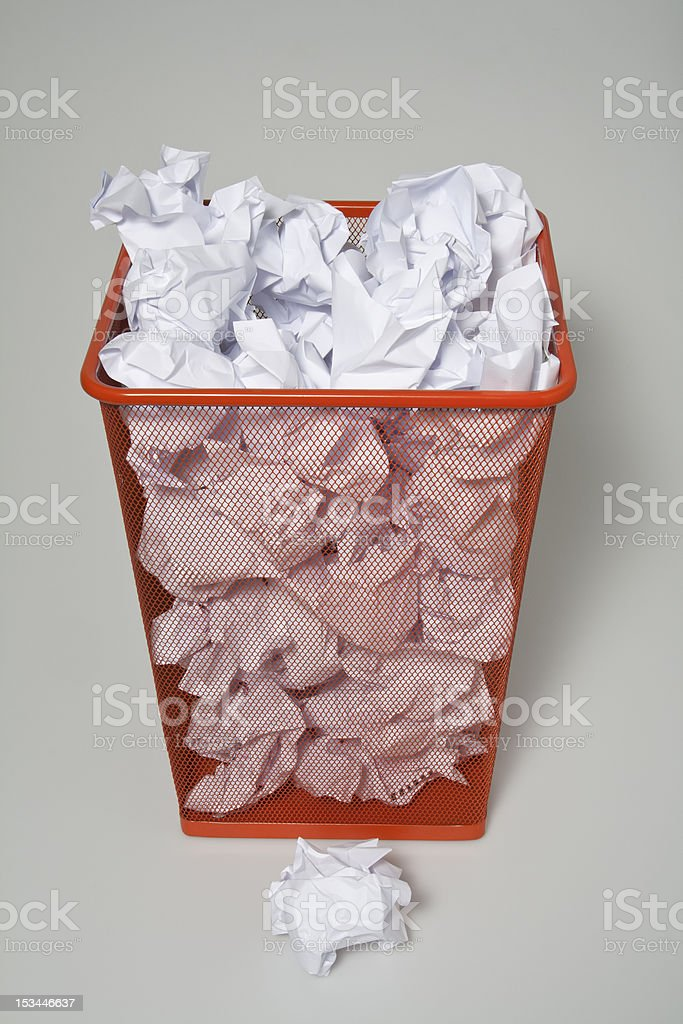Waste paper royalty-free stock photo