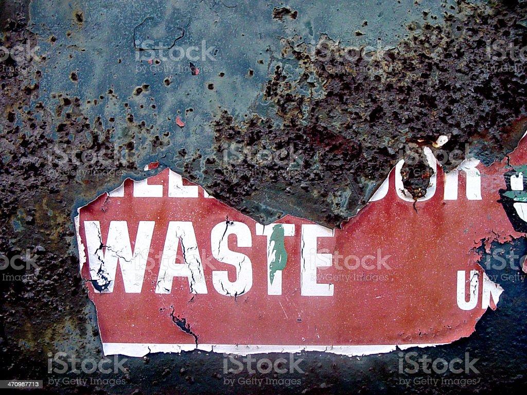 Waste royalty-free stock photo