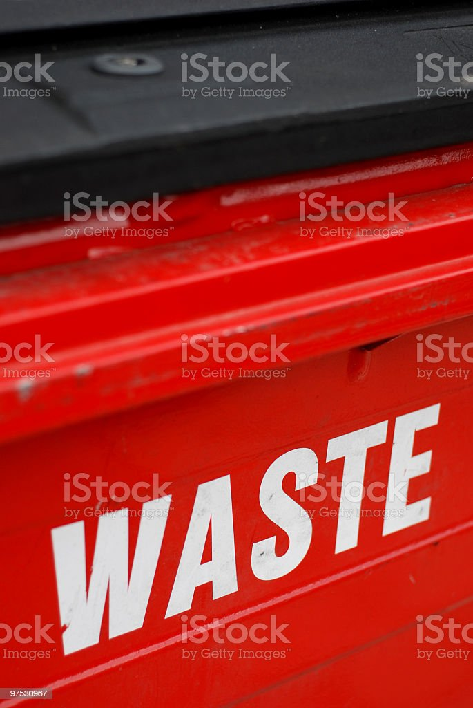 Waste royalty-free stock photo
