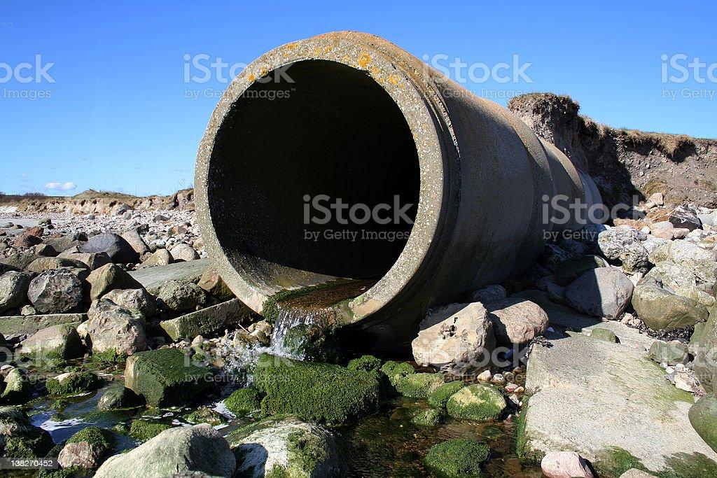 waste pipe sewage stock photo