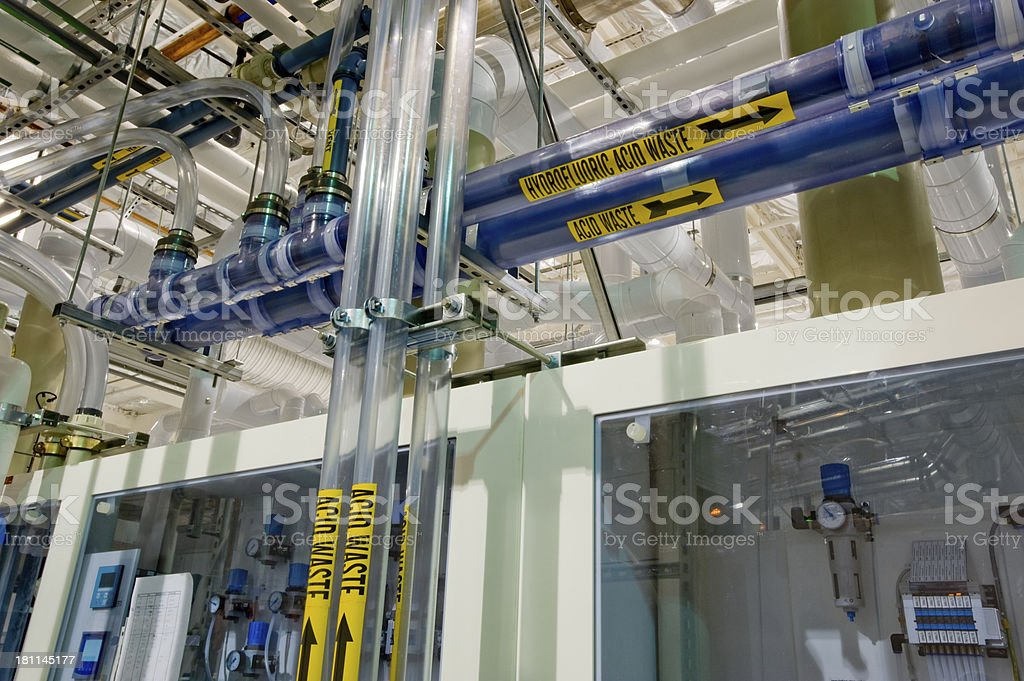 Waste plumbing for manufacturing. royalty-free stock photo