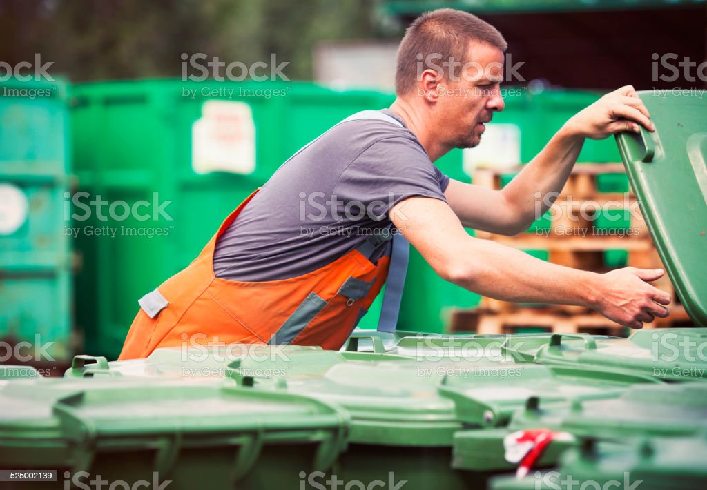Waste recycling center stock photo
