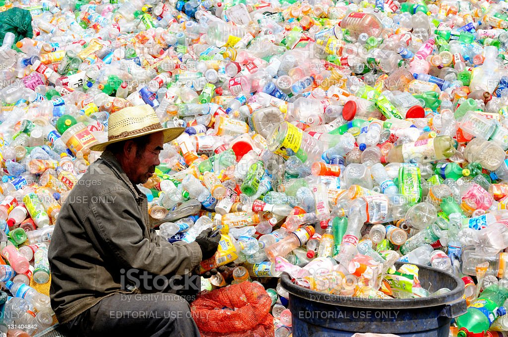 Waste recycling in China stock photo