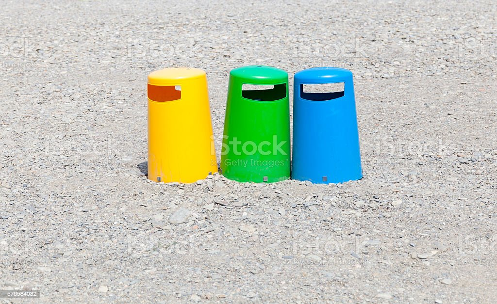 Waste separation stock photo