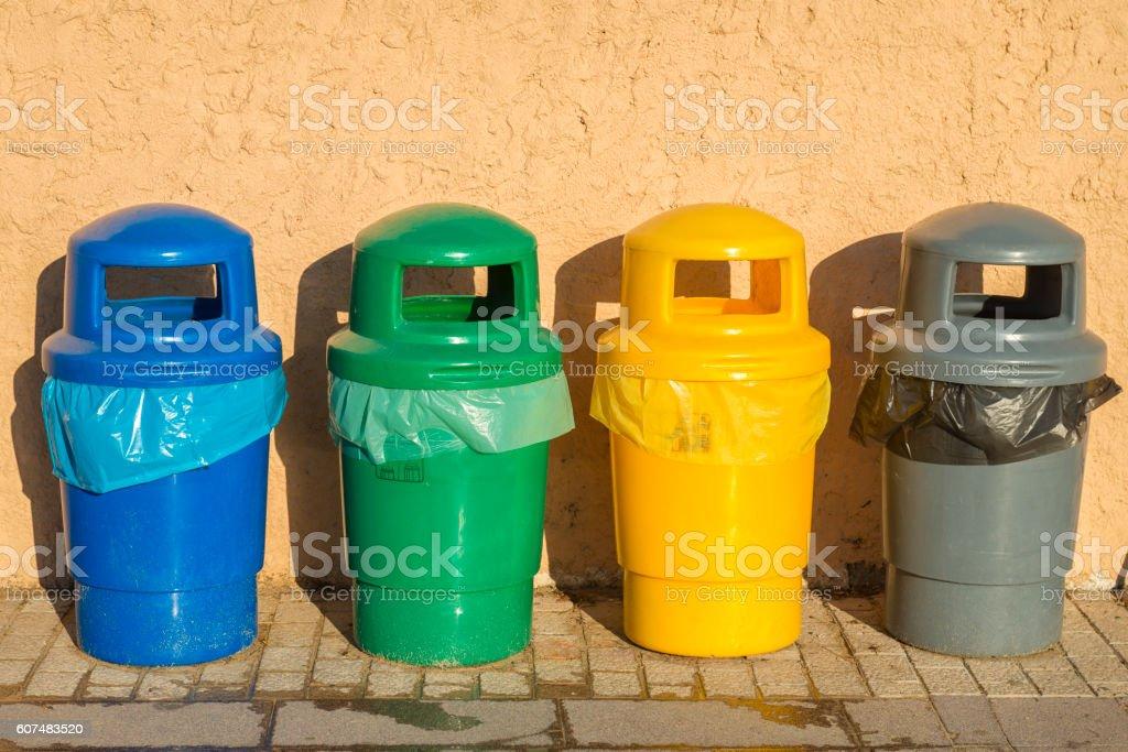 Waste separation stock photo