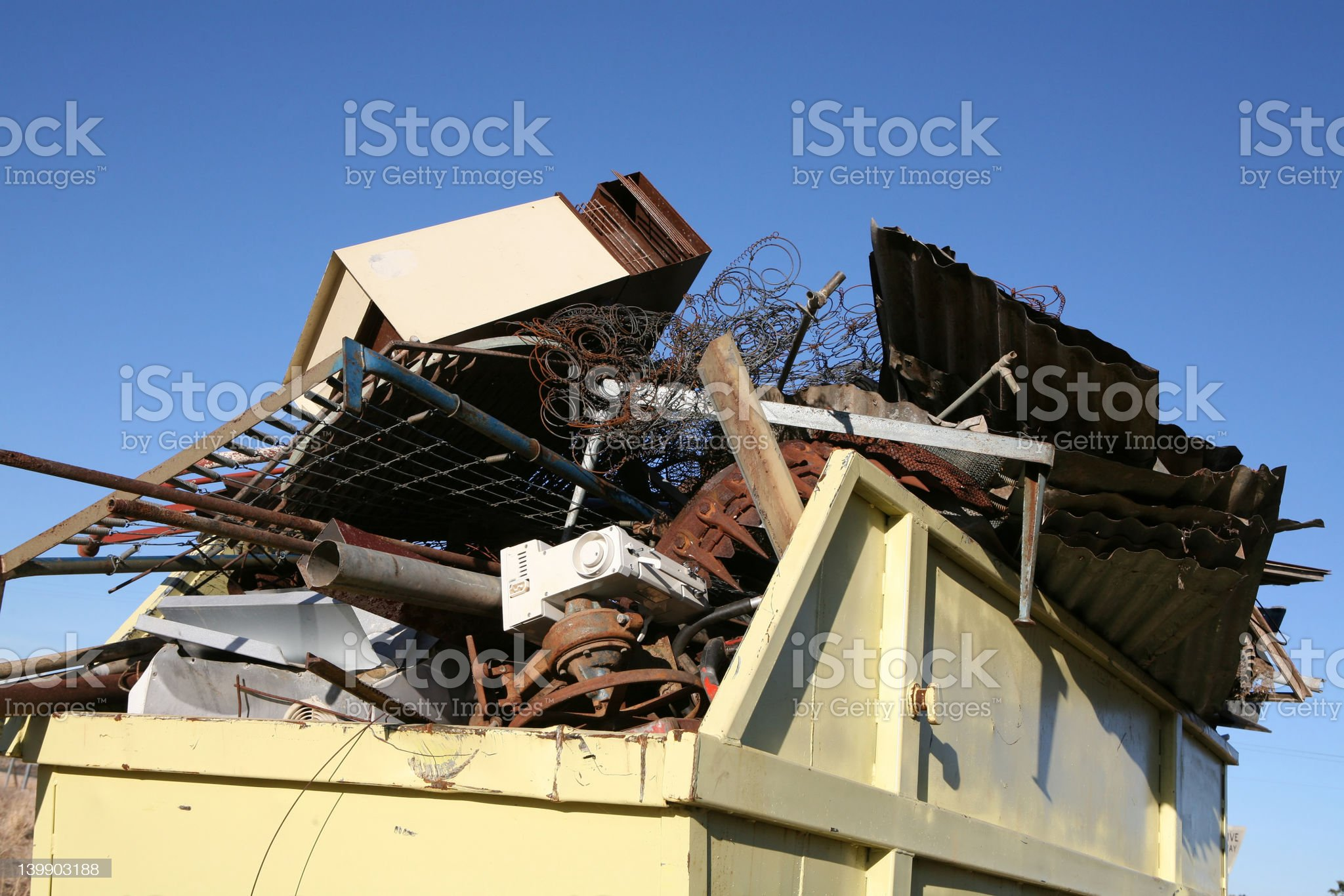 Waste Skip royalty-free stock photo