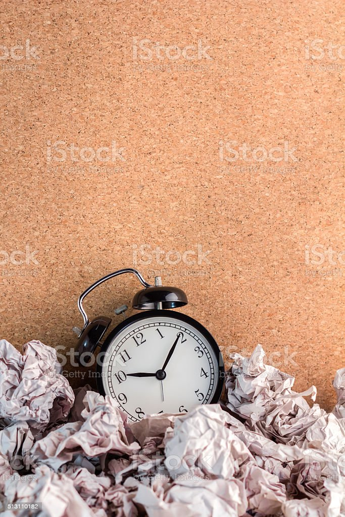 waste time concept stock photo