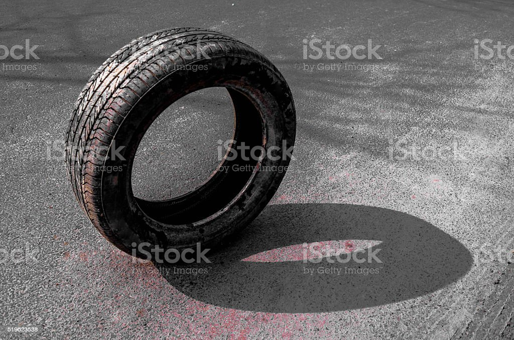 Waste tire stock photo