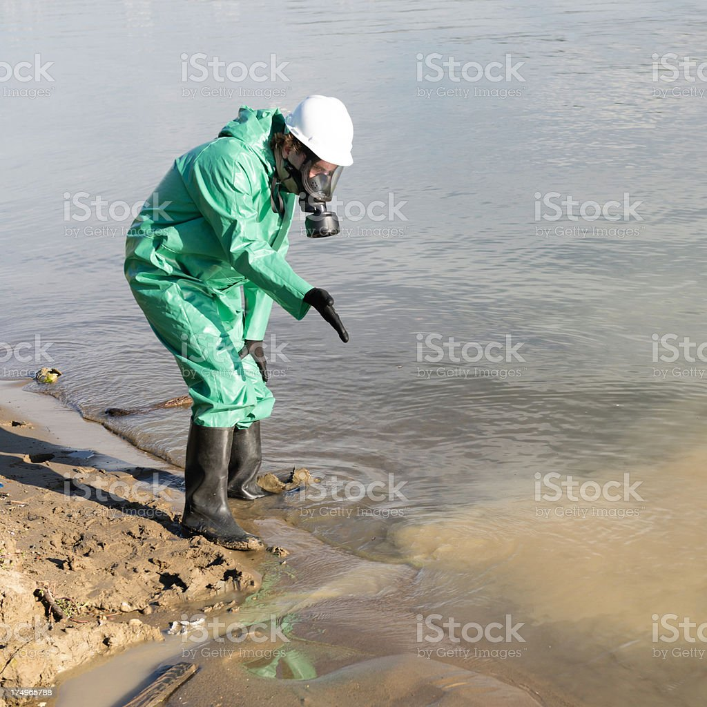 Waste water pollution royalty-free stock photo