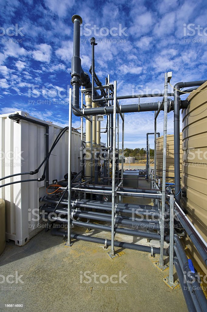 waste water treatment plant royalty-free stock photo
