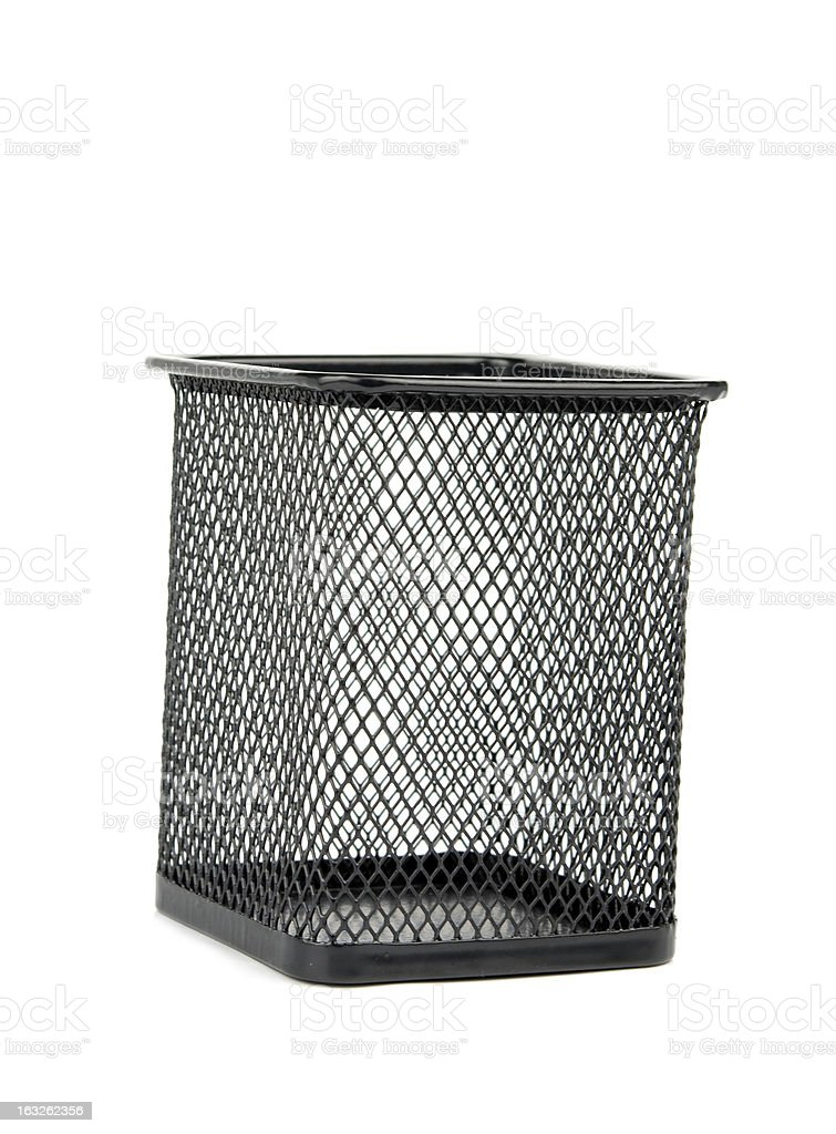 wastebasket is isolated royalty-free stock photo