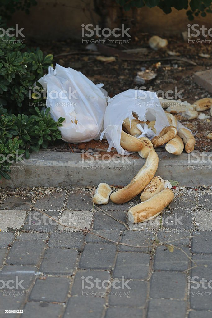 Wasted Bread Rolls. stock photo