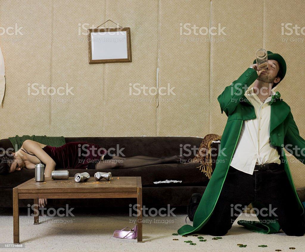 wasted leprechaun stock photo