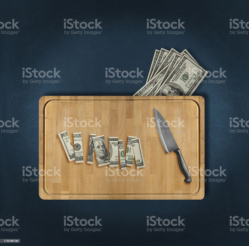 wasted money stock photo