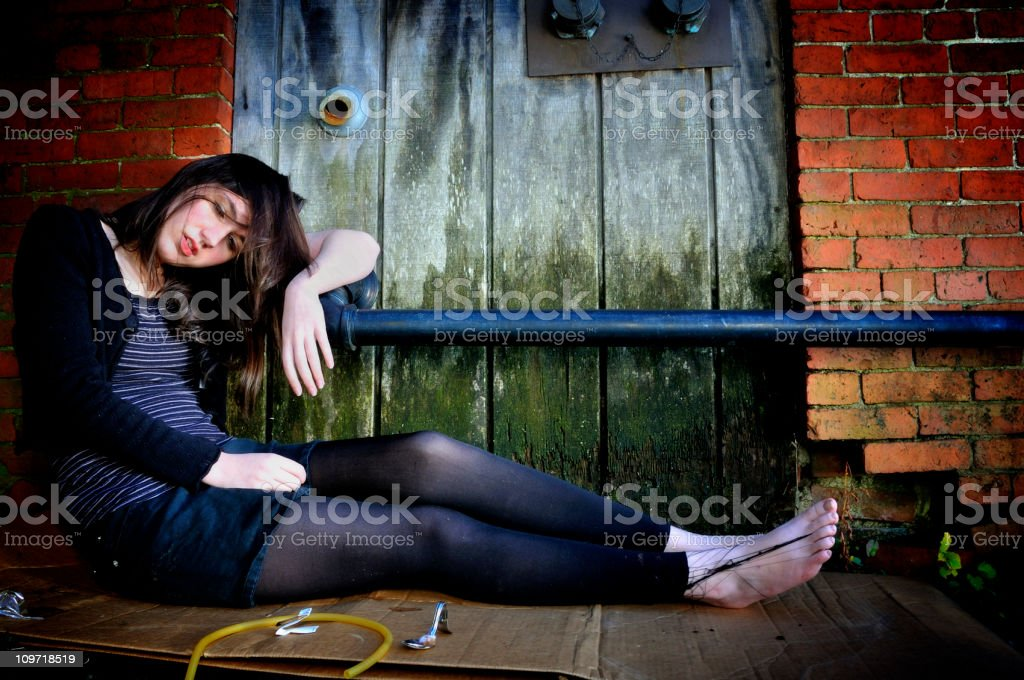 Wasted Young Woman stock photo