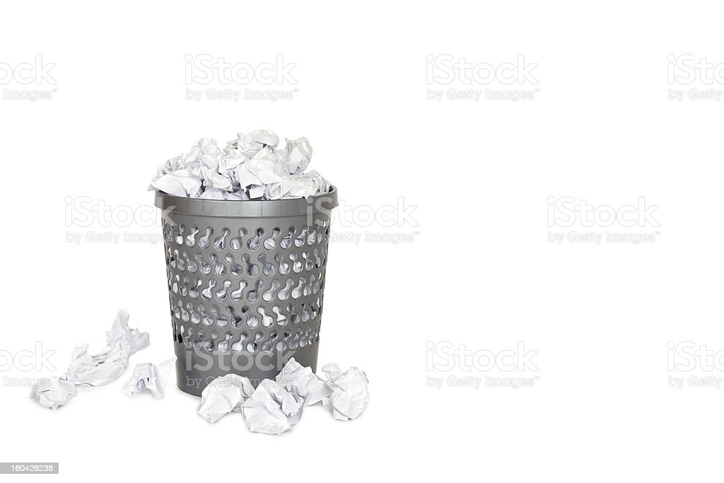 Wastepaper basket royalty-free stock photo