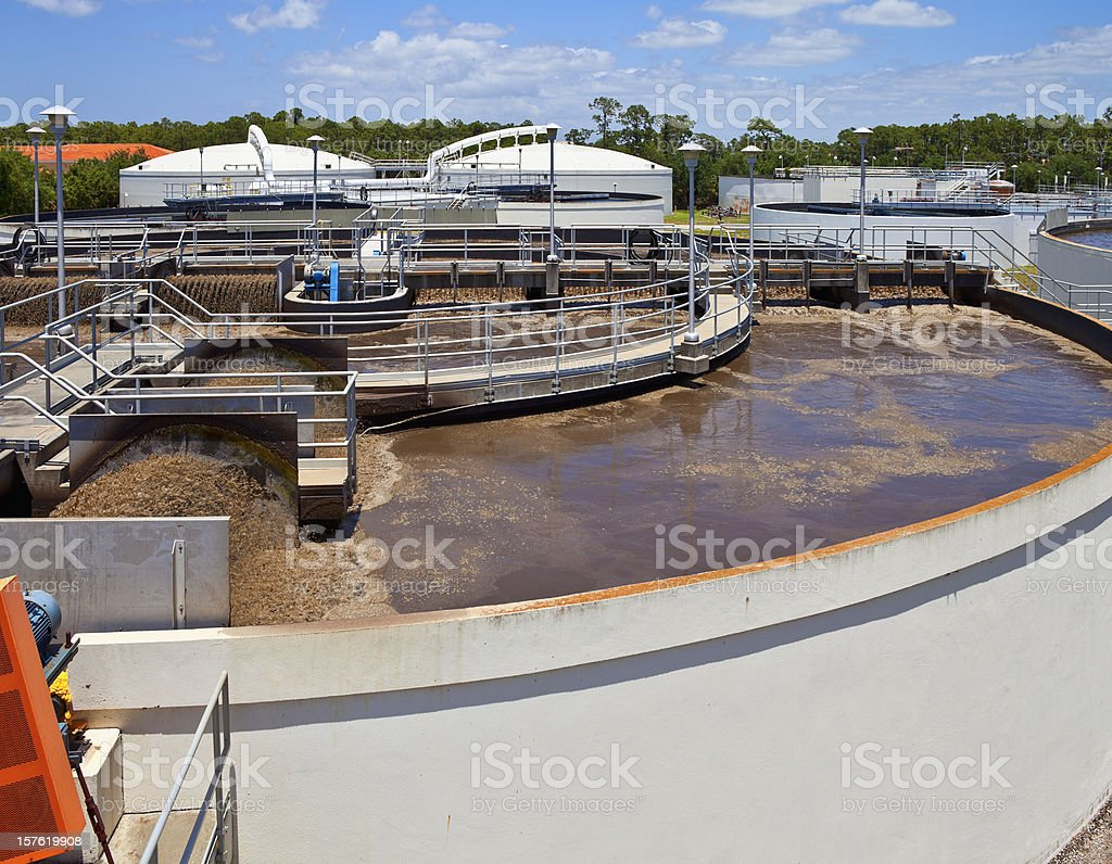 Wastewater Plant stock photo