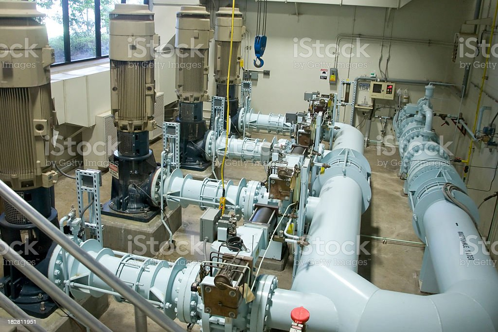 Wastewater Pumping Station stock photo