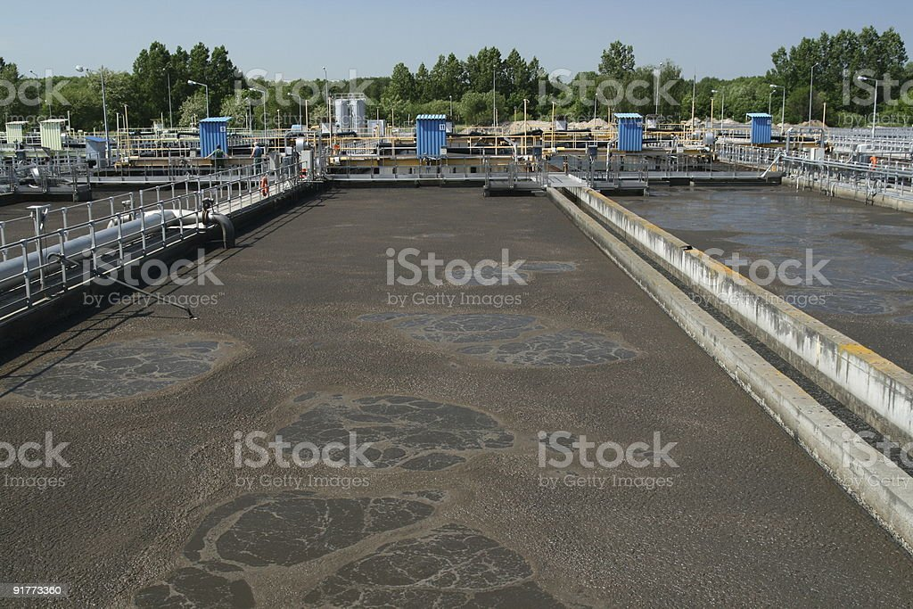 Wastewater treatment stock photo