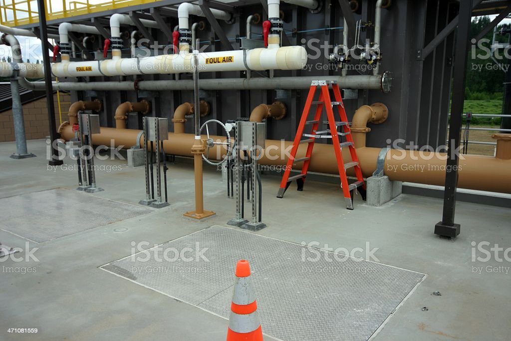 Wastewater Treatment Plant royalty-free stock photo