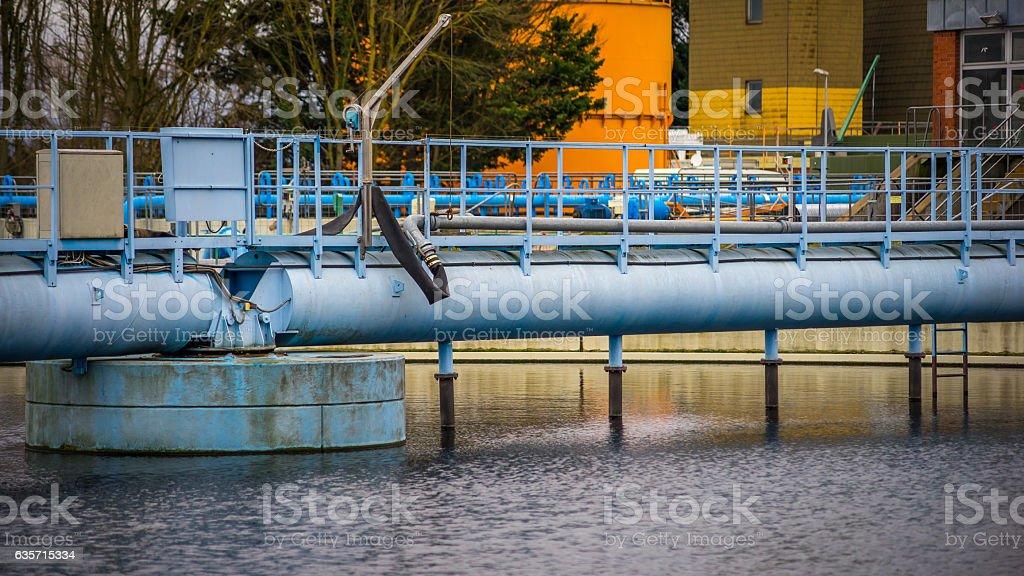 Wastewater treatment plant stock photo