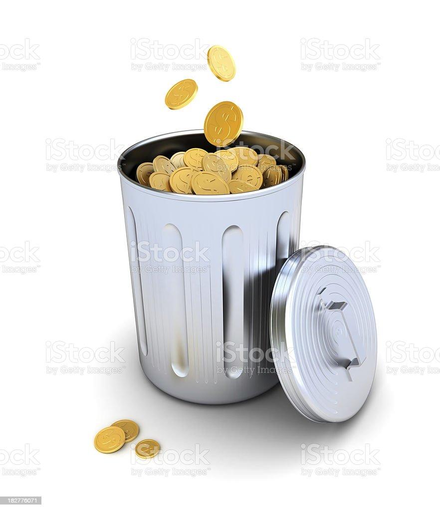 wasting money royalty-free stock photo
