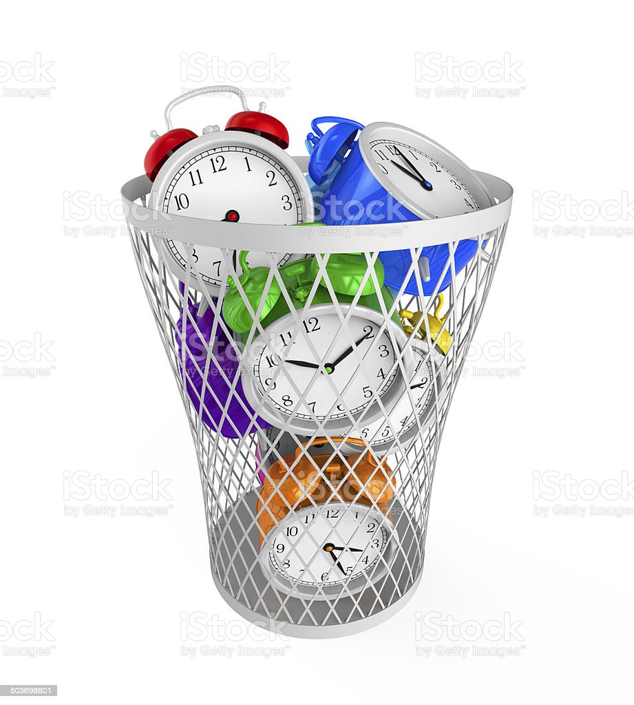 Wasting Time Concept stock photo