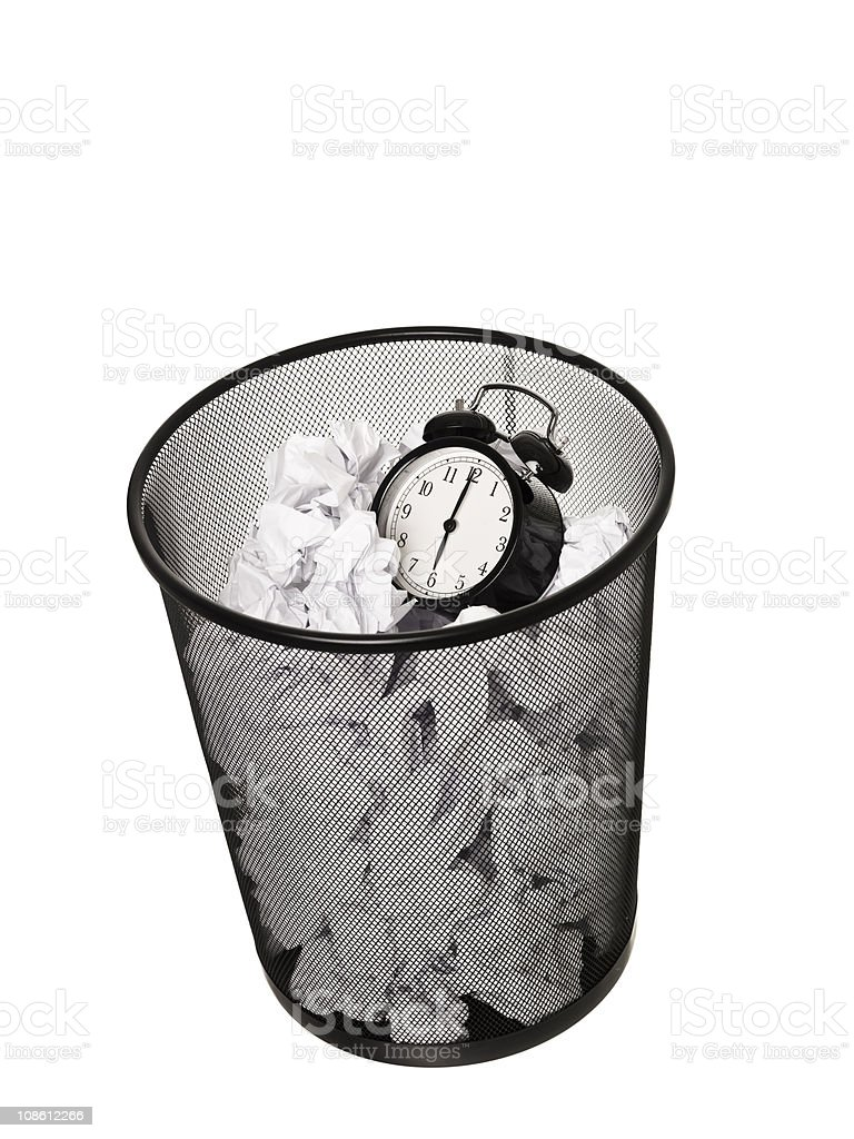 Wasting Time stock photo