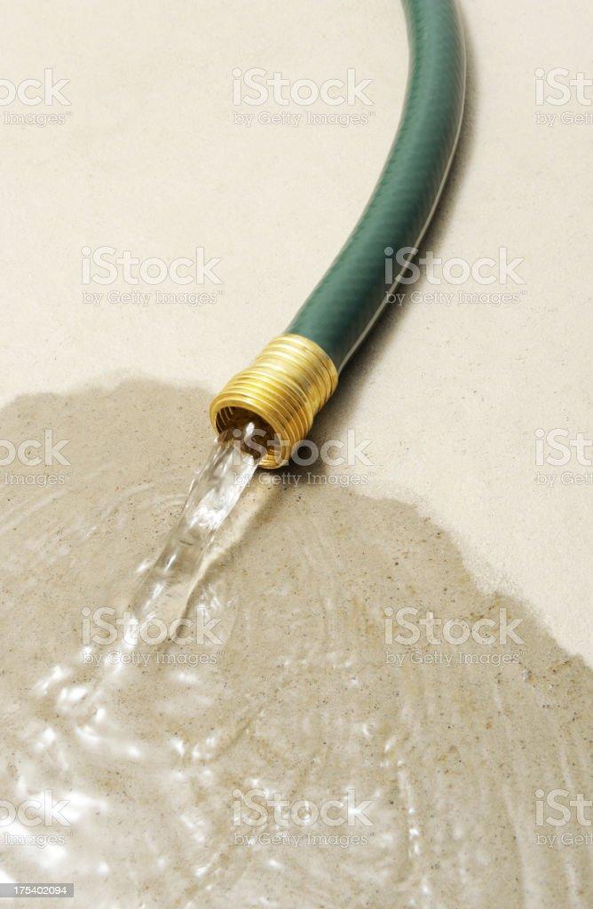 Wasting water stock photo