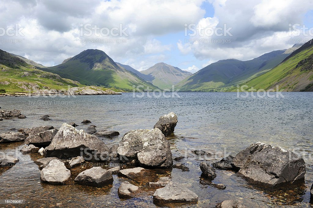 Wastwater and Wasdale stock photo