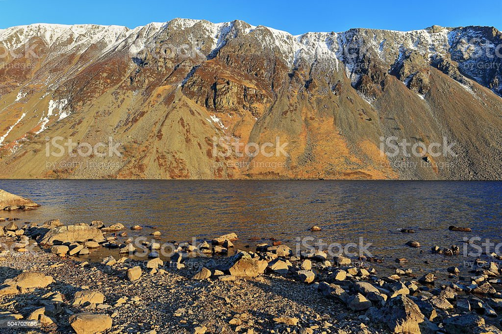 Wastwater screes stock photo