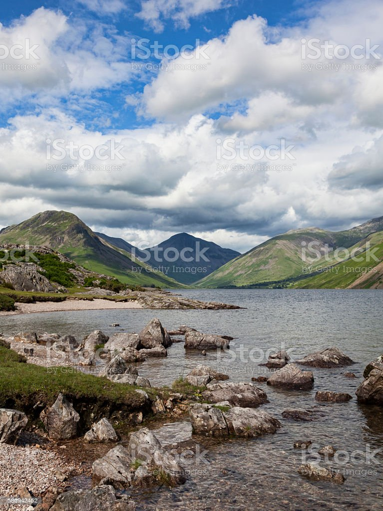Wastwater stones stock photo